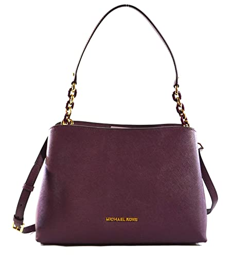 b2c17b9559147 Amazon.com  MICHAEL Michael Kors Sofia Large East West Saffiano Leather  Satchel Crossbody Bag Purse Tote Handbag  Shoes