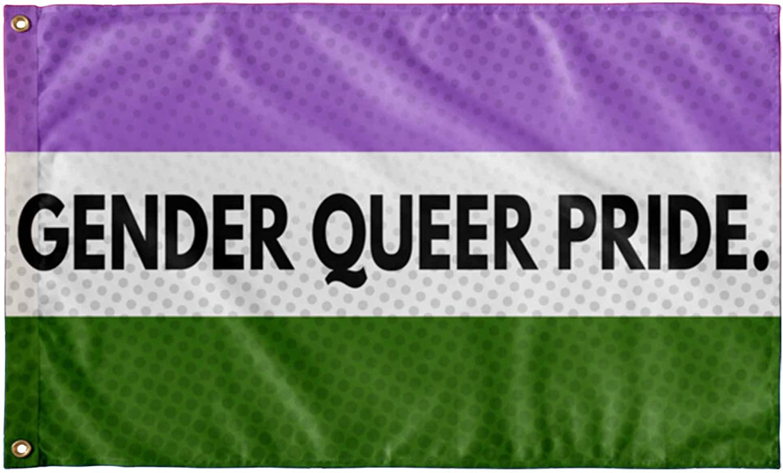 Genderqueer Flag Banner Decoration Gender Queer Gay Pride Rainbow LGBT Festival