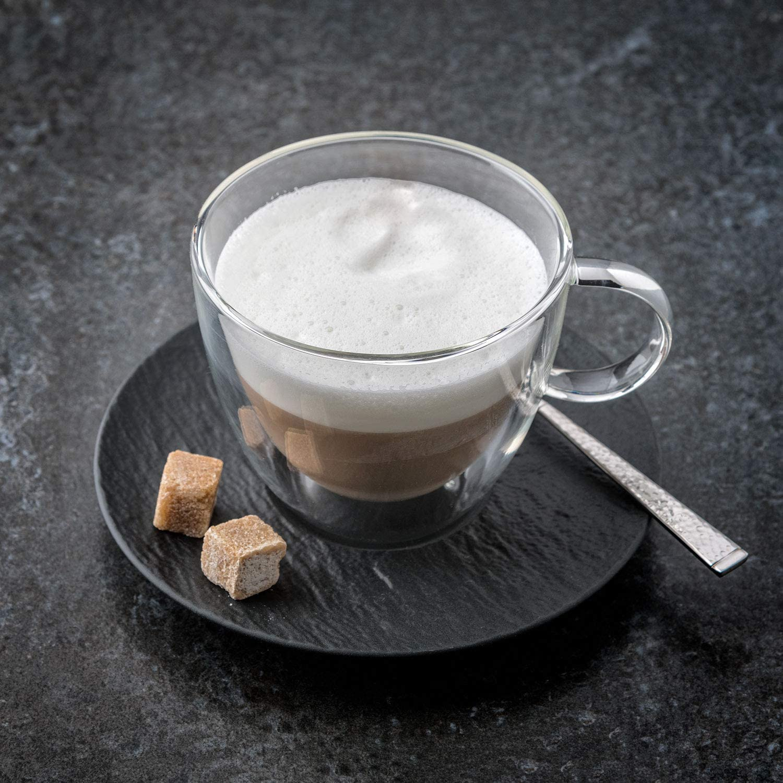 17,3 cm Porcelaine Premium Villeroy /& Boch Manufacture Rock Sous-tasse /à caf/é au lait Noir