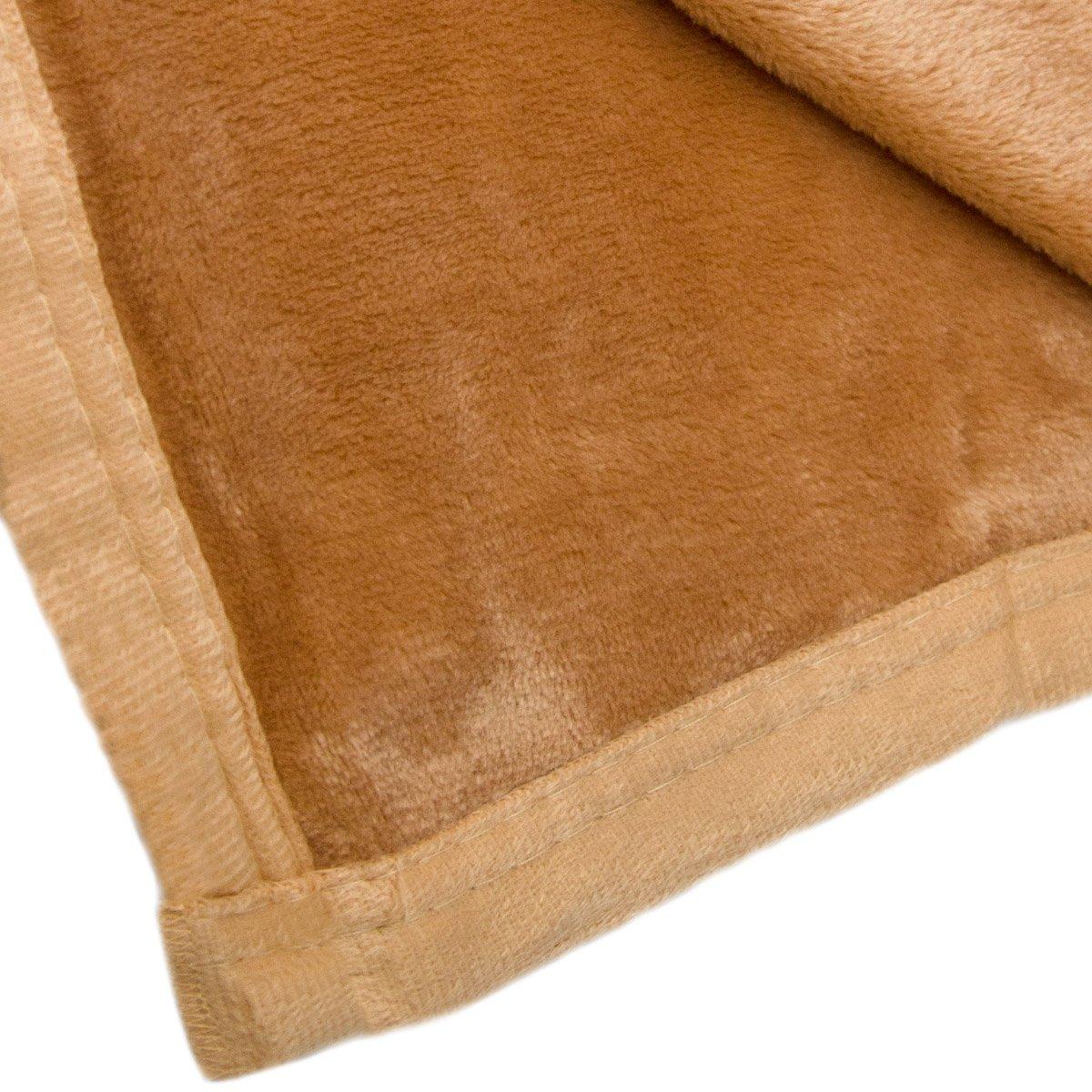 Kuscheldecke Microfaser Decke Wohndecke Tagesdecke 140x200 cm Fleecedecke Braun