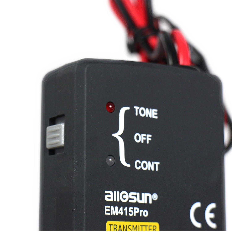 Allosun Em415pro Black Auto Cable Wire Tracker Automotive Short Open Finder Car Circuit Detector Repair