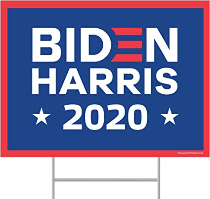 Anti Biden 2020 YARD SIGN 18in x 24in Double Sided /& Frame Make China Great
