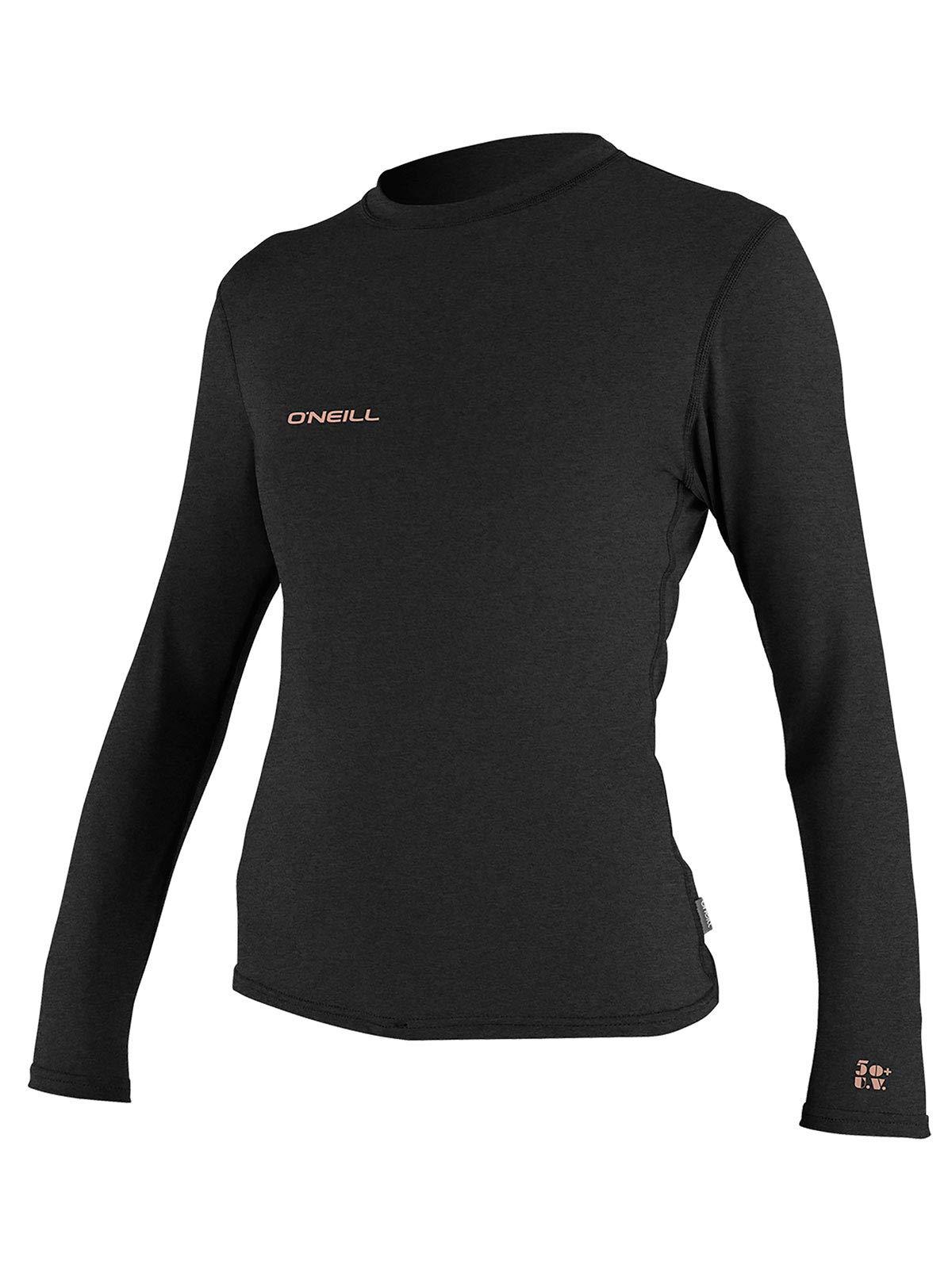 O'Neill Wetsuits Women's Hybrid UPF 50+ Long Sleeve Sun Shirt, Black, X-Small
