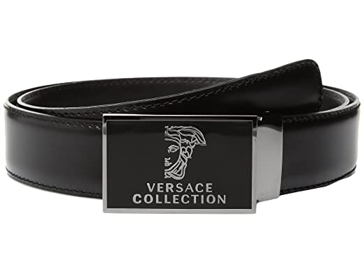 45697a57077 Versace - Ceinture - Homme noir noir - noir - 85 cm  Amazon.fr ...