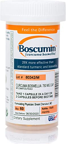 Doctor-Developed Boscumin Pharmaceutical Strength Immune Support Joint Pain Relief AntiInflammatory with Patented Curcumin Boswellia