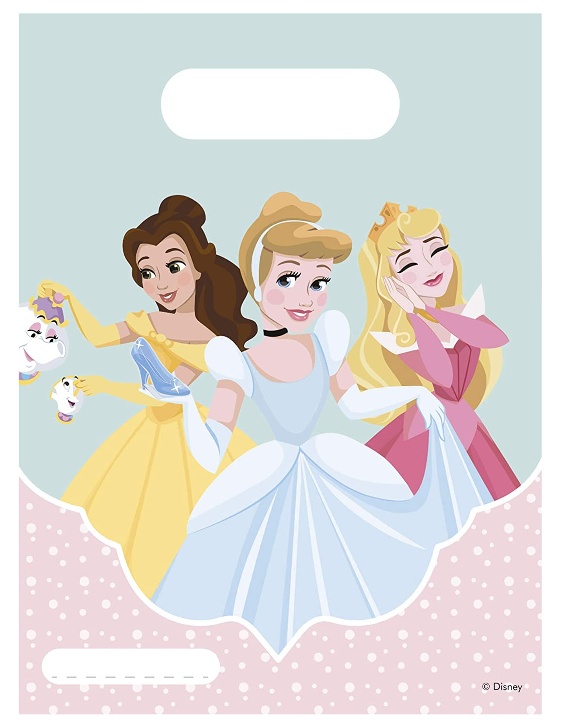 Generique 6 Bolsas regalo Princesses Disney 16.5 x 23 cm ...