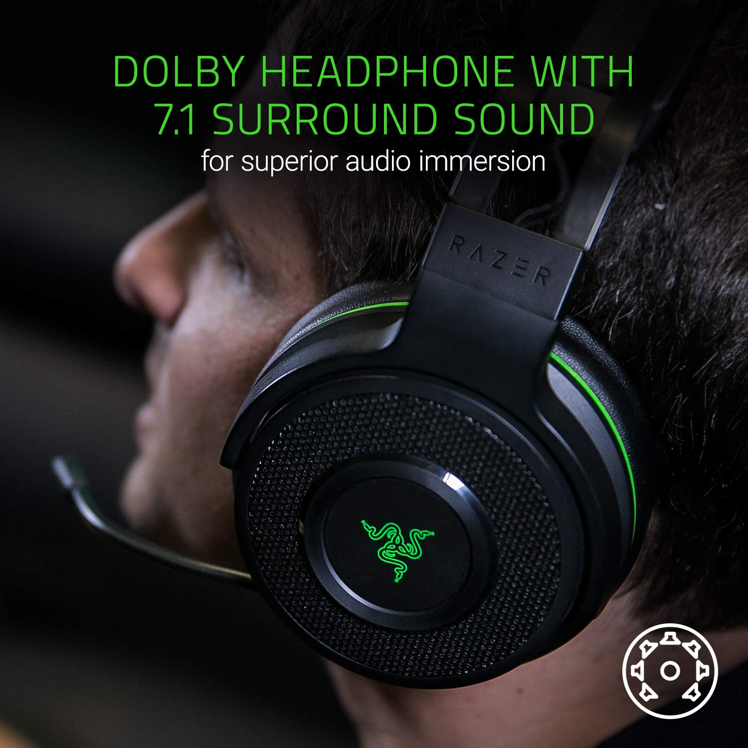 97b49365099 Razer Thresher Ultimate For Xbox One: Dolby 7.1 Surround Sound - Lag-Free  Wireless Connection - Retractable Digital Microphone - Base Station  Wireless ...