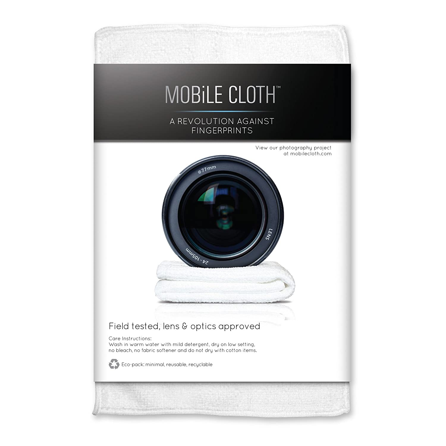 Mobile Cloth CL5LB Classic Lens Cloth, 5-Pack (White)