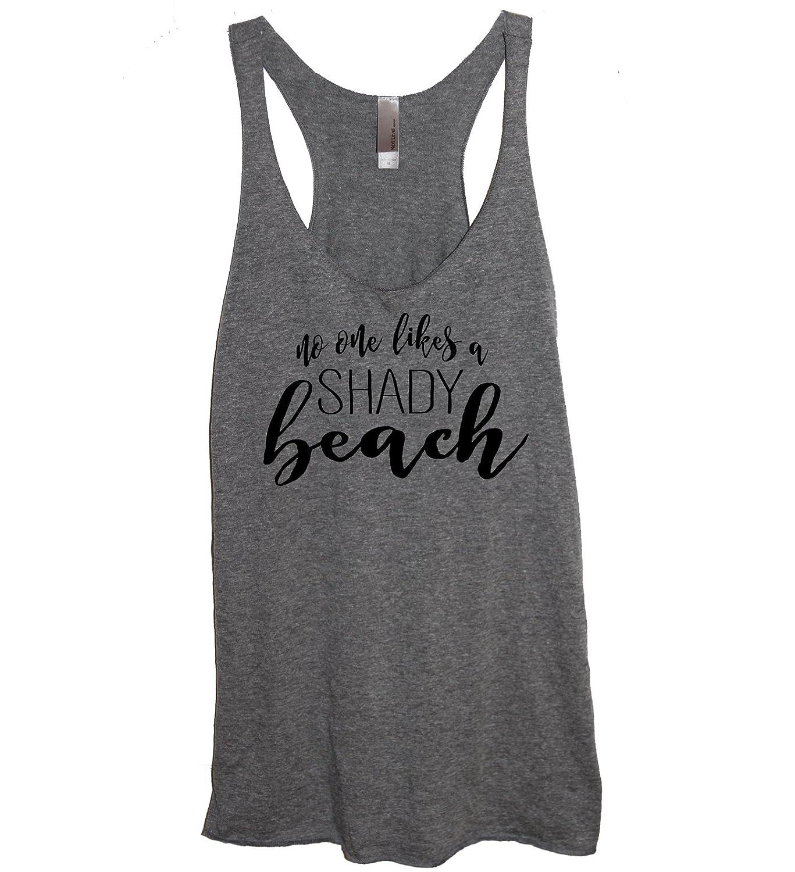 2e133d1e1a6a74 Amazon.com  No One Likes A Shady Beach Soft Tri-Blend Funny Women s Heather  Gray Racerback Tank Top Shirt  Clothing