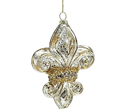 Fleur De Lis Mercury Glass Hanging Ornament - Amazon.com: Fleur De Lis Mercury Glass Hanging Ornament: Home & Kitchen