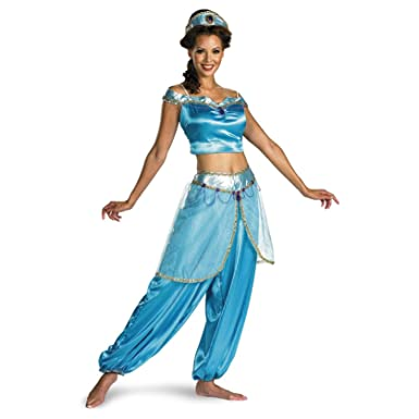 Amazon.com: Aladdin Jasmine Deluxe Adult Costume Size Large (12-14 ...