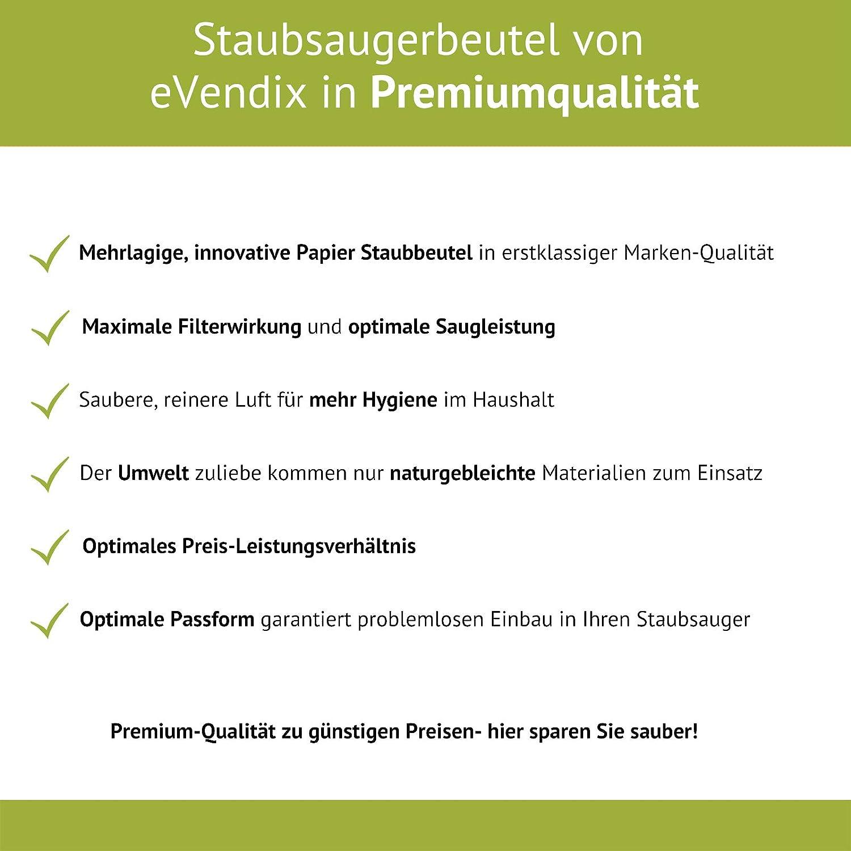eVendix Staubsaugerbeutel passend f/ür Kaercher 6.904-239 6.904-239 30 Staubbeutel /ähnlich wie Original-Beutel