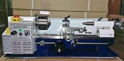 Cj18a Mini Lathe 7x14 Machine With Dro 4 Chuck Amazoncouk