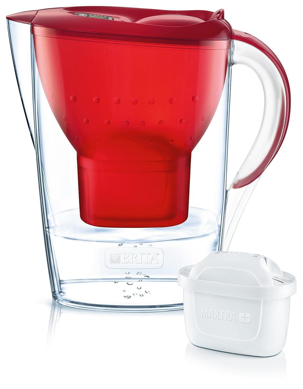 BRITA Marella Cool Wassfi Filter, Funnel And Jug–1024039Smma Cover–Abs/Asa, Red, 26X 9X 25Cm