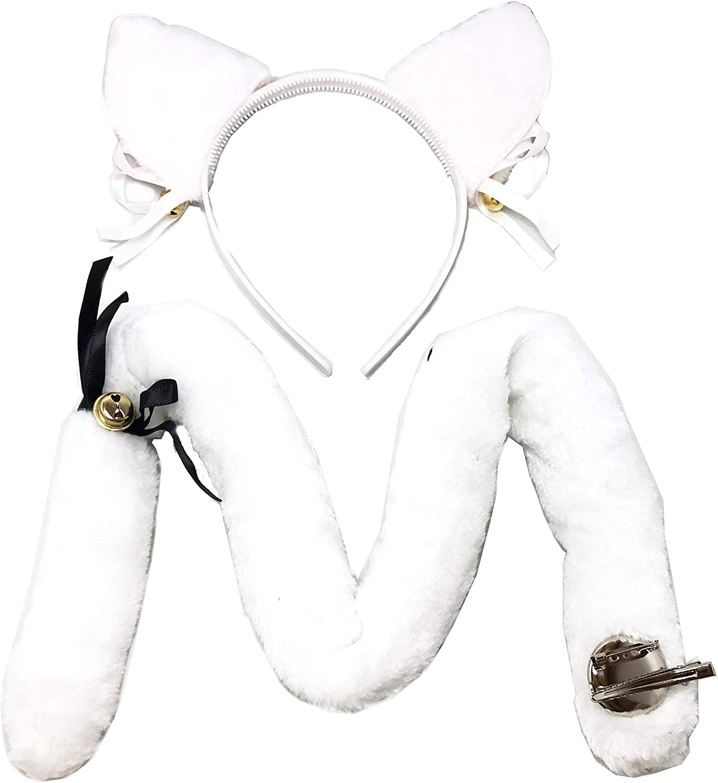 Details about  / Ear Tail Plush Hair Accessories Cute Anime Cosplay Scrunchies Headband