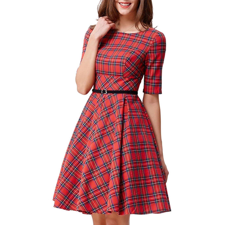 6916e43fbcf93 Leisure Vintage Dress Fall Daily Party Retro Dress Midi Vestidos ...