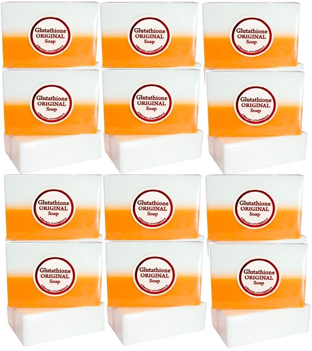 Kojic Acid & Glutathione Dual Whitening/bleaching Soap (12 Soaps)