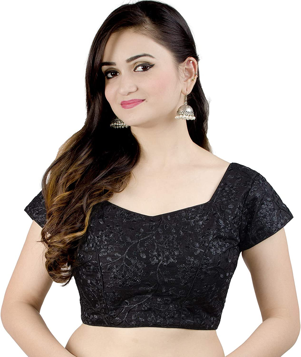 3640 size Ready to wear Brocade blouse Crop Top Bollywood Style