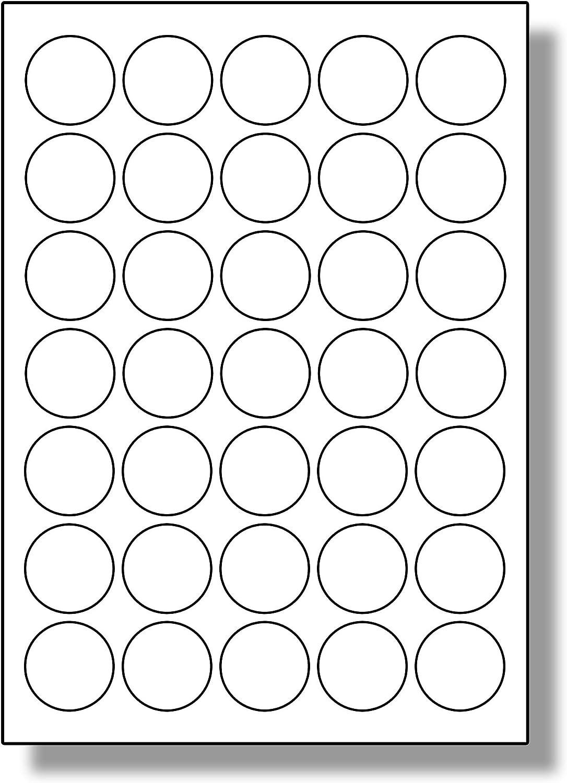 5 Fogli 175 Etichette Label Planet/® Etichette Rotonde Trasparenti di Poliestere A4 Lucide per la Stampa a Getto dInchiostro 37mm Diametro 35 Par Foglio LP35//37 R GCP.