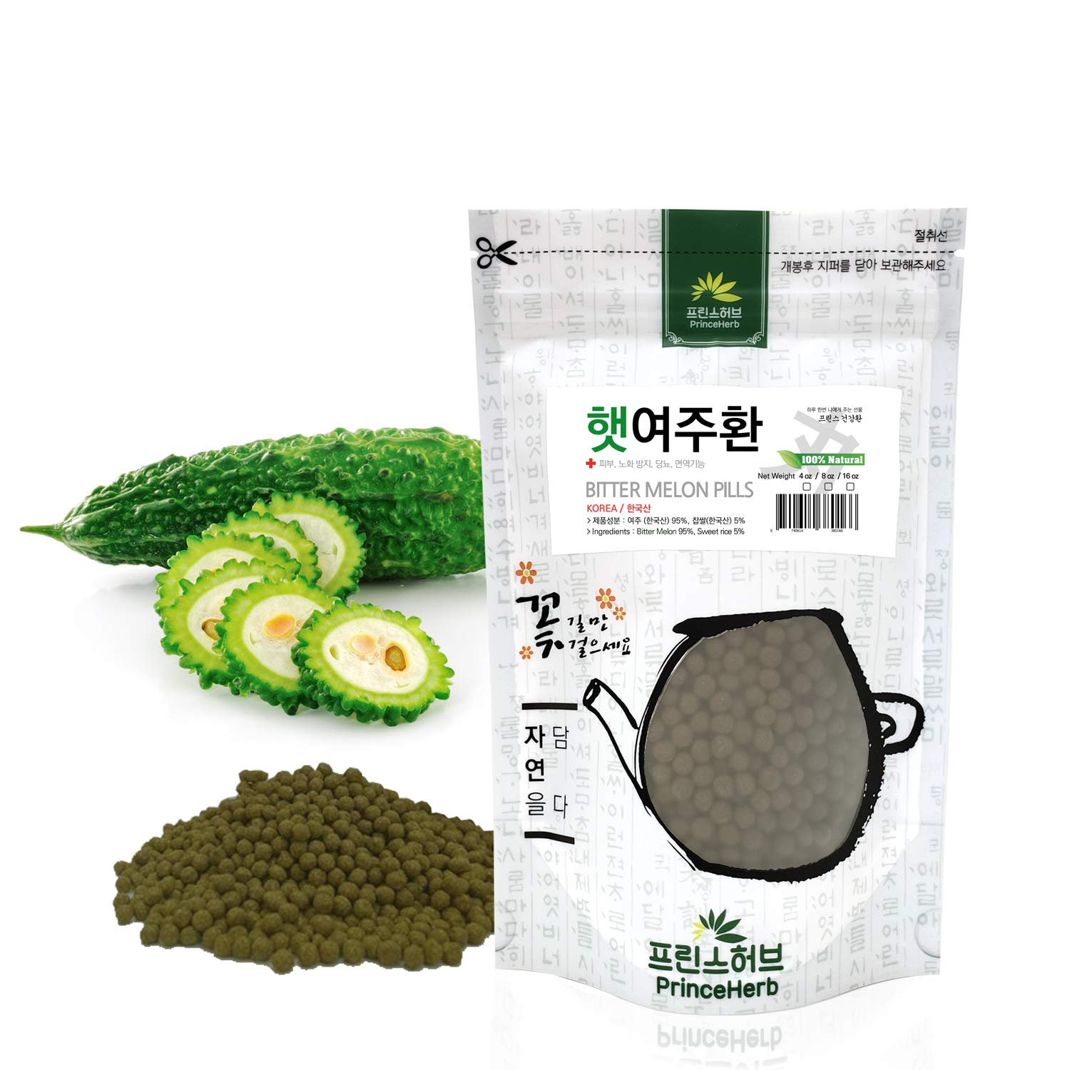 [Medicinal Korean Herbal Pills] 100% Natural Bitter Melon Pills (Bitter Melon/여주 환) (8 oz)