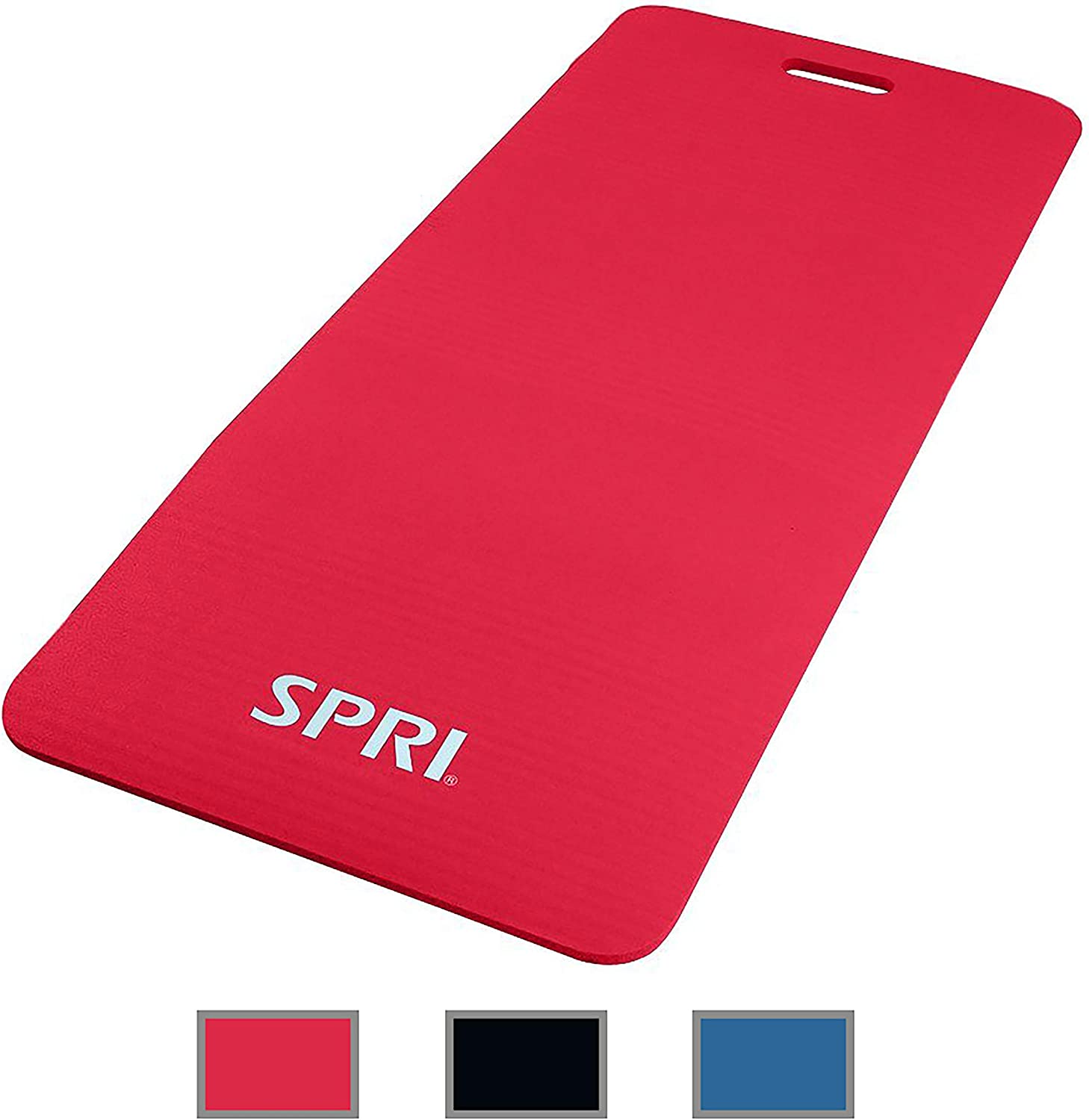 48L x 20W x 1//2-Inch Thick Yoga Pilates Stretching /& Floor Exercises SPRI Exercise Mat for Fitness