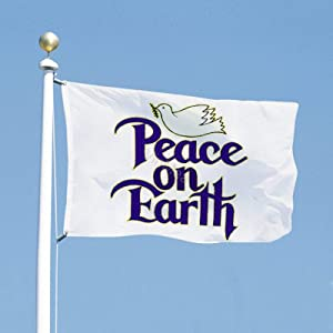 3x5 Foot American US Flag - Vivid Color and UV Fade Resistant - Peace ON Earth Banner Flags Polyester for Yard Garden Outdoor Decoration 3 X 5 Ft