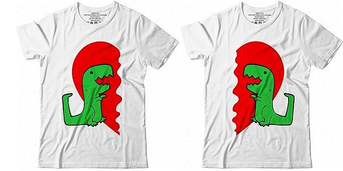c45068d77e7f Amazon.com: T-Rex Dinosaur Couple Hug Me Valentines Day Funny Shirt for  Kids Twins Friends T-Shirt Hoodie/Long Sleeve/Tank Top/Sweatshirt: Handmade