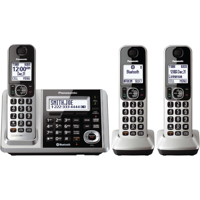 Panasonic KXTGF373S Dect 3-Handset Landline Telephone by Panasonic