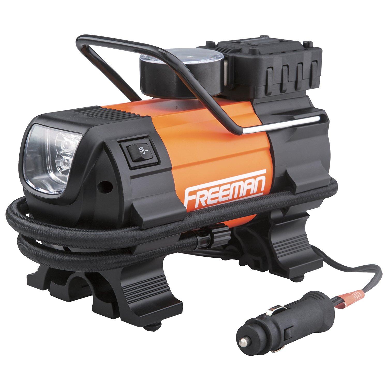 Freeman P45LMTI High Power Portable 12V Tire Inflator with Gauge