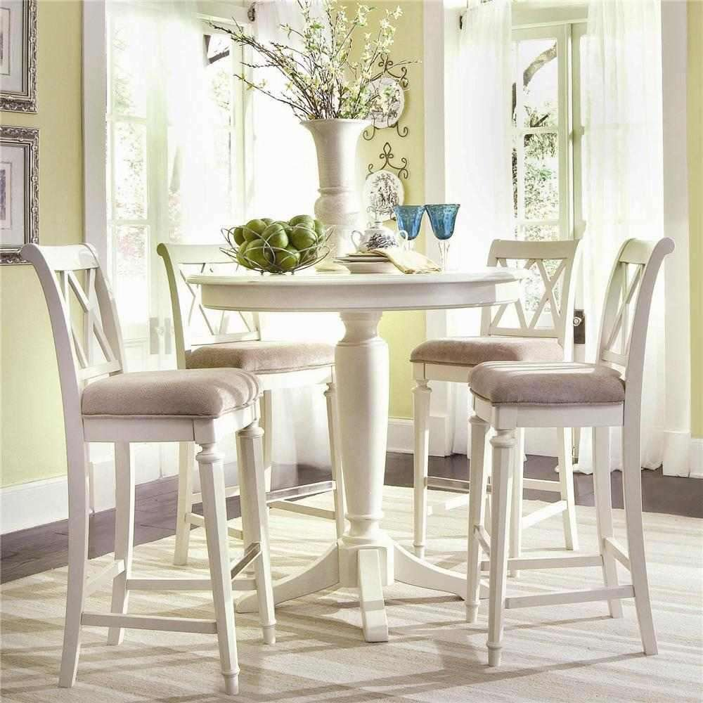 Amazon.com: American Drew Camden Bar Height Pedestal Table In Buttermilk:  Kitchen U0026 Dining