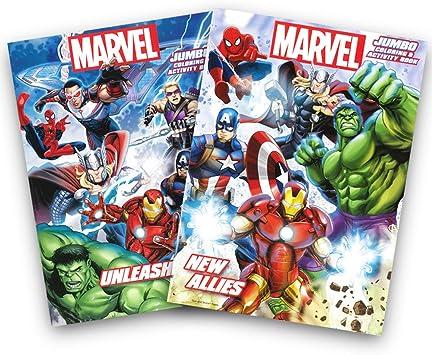 Amazon.com: Marvel Heroes Avengers jumbo para colorear y ...