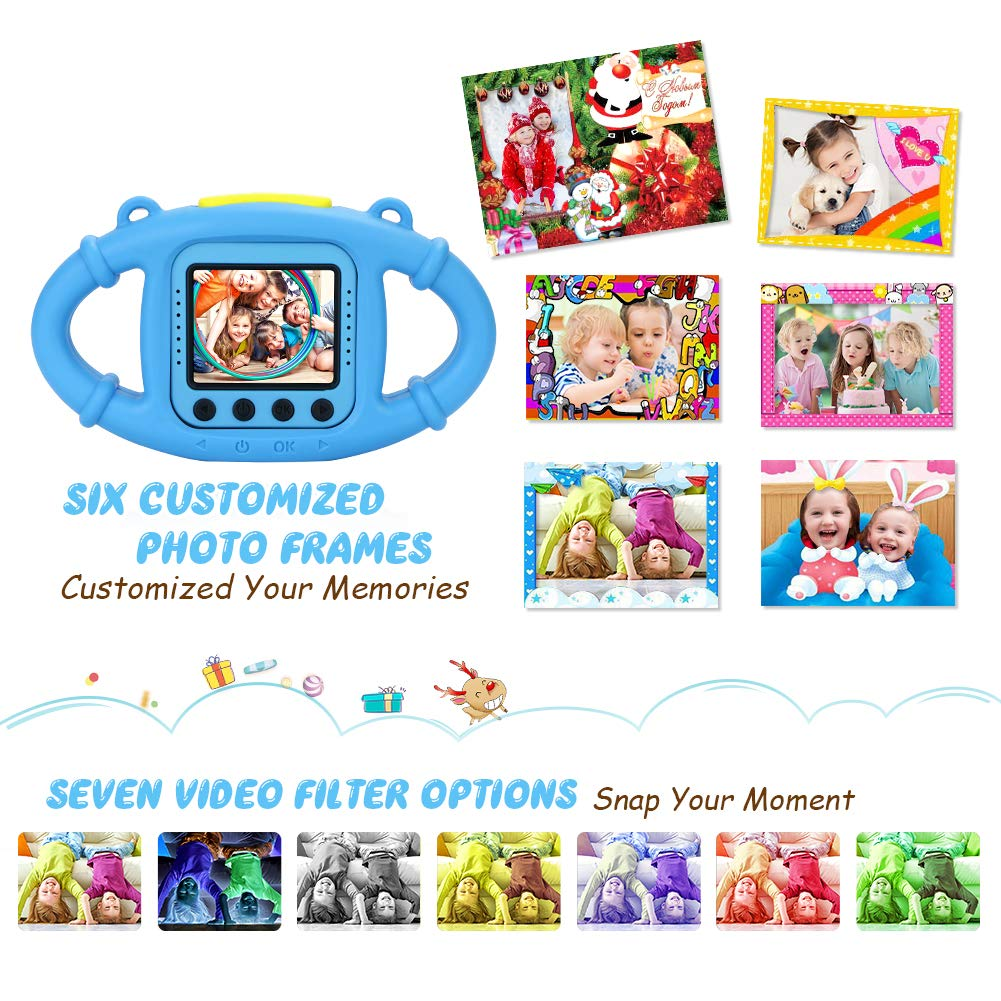 VanTop Junior K3 Kids Camera, 1080P Supported Waterproof Video Camera w/ 16Gb Memory Card, Extra Kid-Proof Silicon Case by VanTop (Image #2)