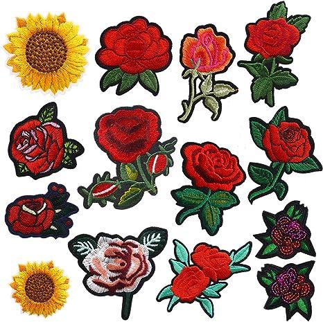 Cubierta Cojín Cojín-Floral Con Apliques-opción de tamaños de paquete