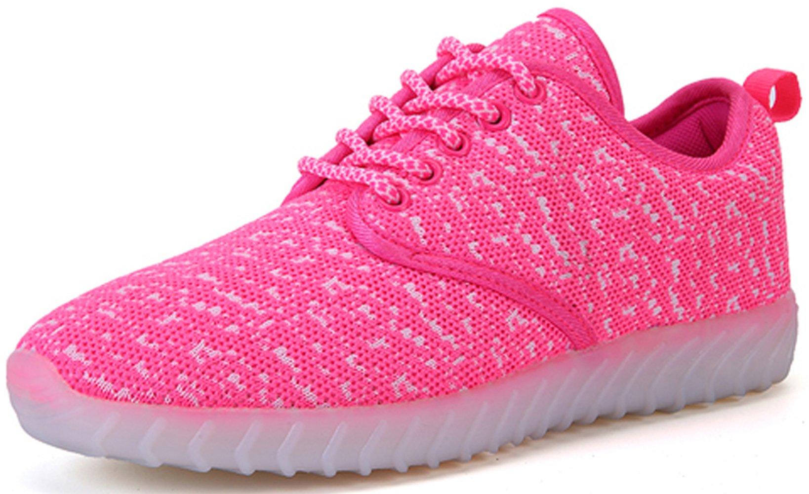 Joansam 7 Colors LED Luminous Unisex Sneakers Men & Women USB Charging Light Colorful Glowing Flashing Shoes Sport Shoes