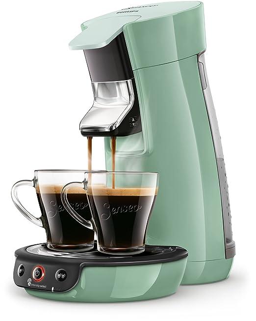 Senseo Viva Café HD6563/10 - Cafetera (Independiente, Máquina de café en cápsulas, 0,9 L, Dosis de café, 1450 W, Verde)