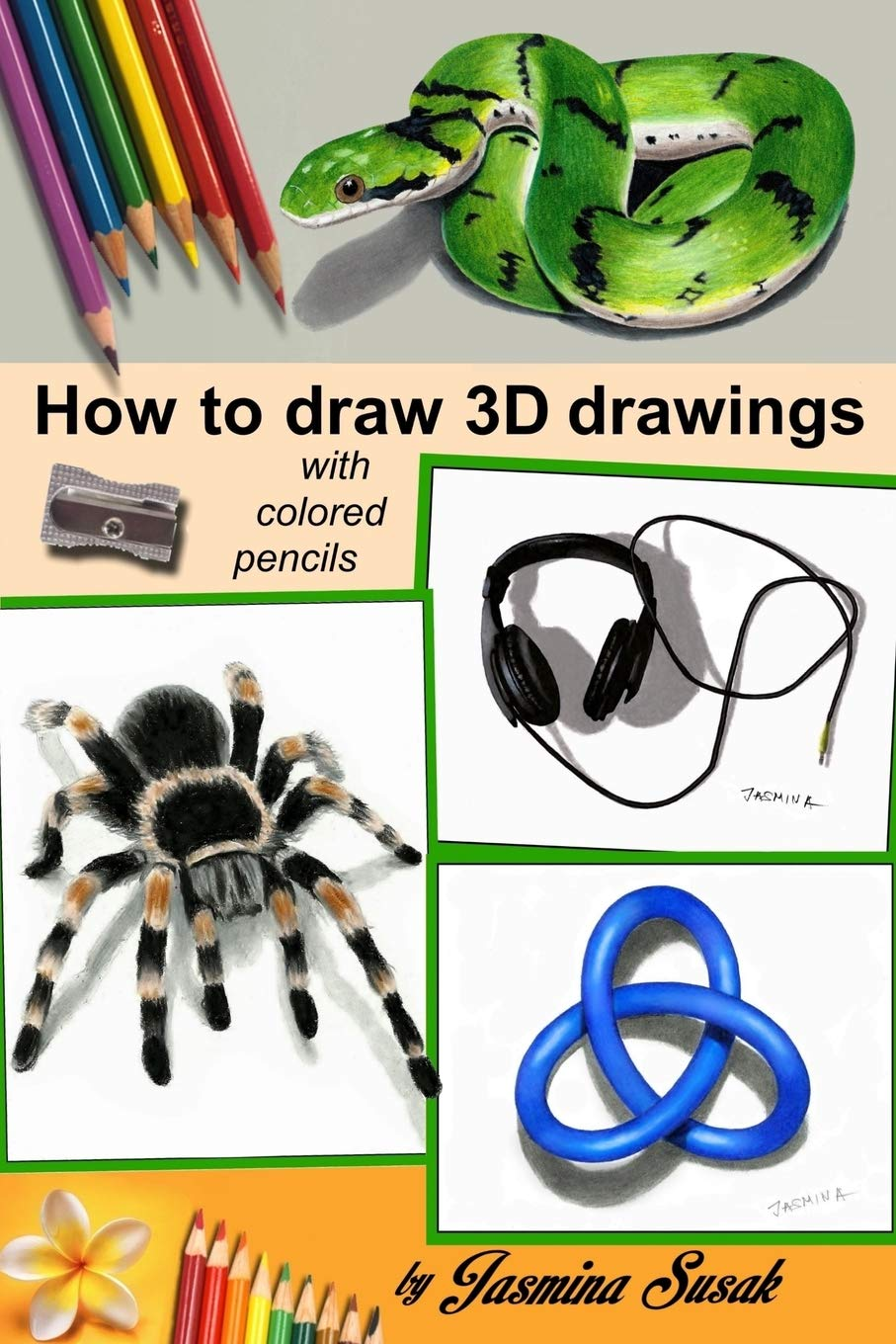 How To Draw 3d Drawings With Colored Pencils Only Jasmina