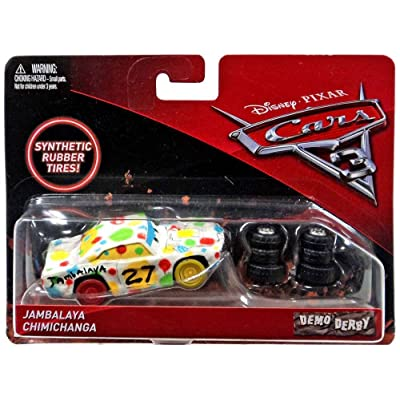 Disney/Pixar Cars 3 Demo Derby Jambalaya Chimichanga with Synthetic Rubber Tires Die-Cast Vehicle: Toys & Games