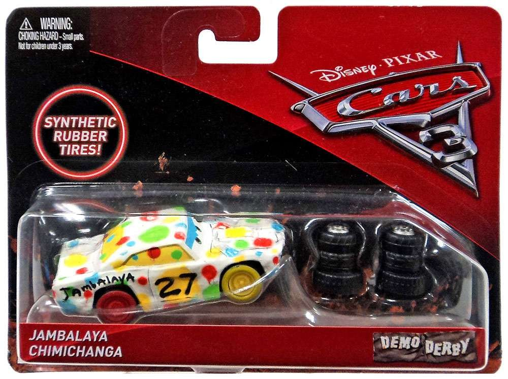 Disney/Pixar Cars 3 Demo Derby Jambalaya Chimichanga with Synthetic Rubber Tires Die-Cast Vehicle Mattel Toys
