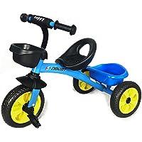 Niños Pedal Trike - Azul - Asiento Ajustable Delantero y Trasero Cestas de 3-5 Años F12 Trike Azul (Sapphire)