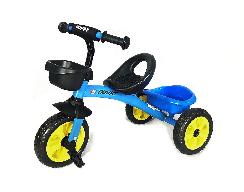 Bambini Pedale Trike - Blu - Regolabile Sedile Anteriore e Posteriore Cestini 3 - 5 Anni F12 Trike Blu (Zaffiro)