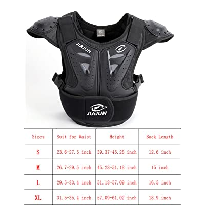 BARHAR Kids Dirt Bike Body Chest Spine Protector Vest Protective for Dirtbike Motocross Skiing Snowboarding : Sports & Outdoors