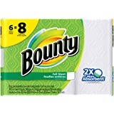 Bounty Paper Towels, White, 6 Big Rolls = 8 Regular Rolls