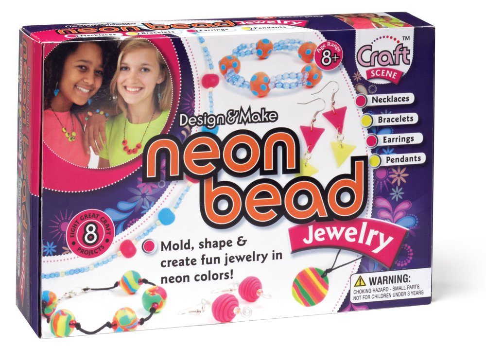 amazon com international playthings craft scene neon bead jewelry