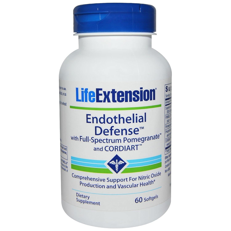 【海外直送品】Life Extension - Endothelial Defense™ with Pomegranate Complete and CORDIART™ - 60ソフトジェル エンドセリアルディフェンス B00BFUK5JA