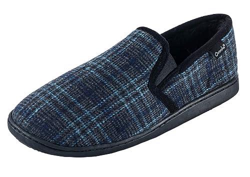 Ommda Zapatillas de Estar por Casa de Hombre Invierno Plaid Forro de Felpa,Zapatillas Casa Lana Memory Foam: Amazon.es: Zapatos y complementos