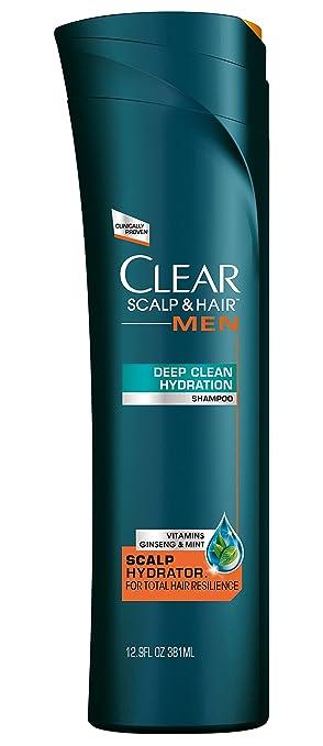 CLEAR Men Scalp and Hair Anti-Dandruff Shampoo, Deep Clean Hydration, 12.9 Ounce