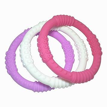 Teething Ring 3 Pack - mooi baby - Baby Teething Rings - GIRL Baby Teether - c7e0901150c3