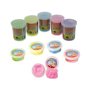 Hüpfknete Springknete Flummimasse in Dose 10 Farben Tombola Mitgebsel Knete Spielzeug Großhandel & Sonderposten