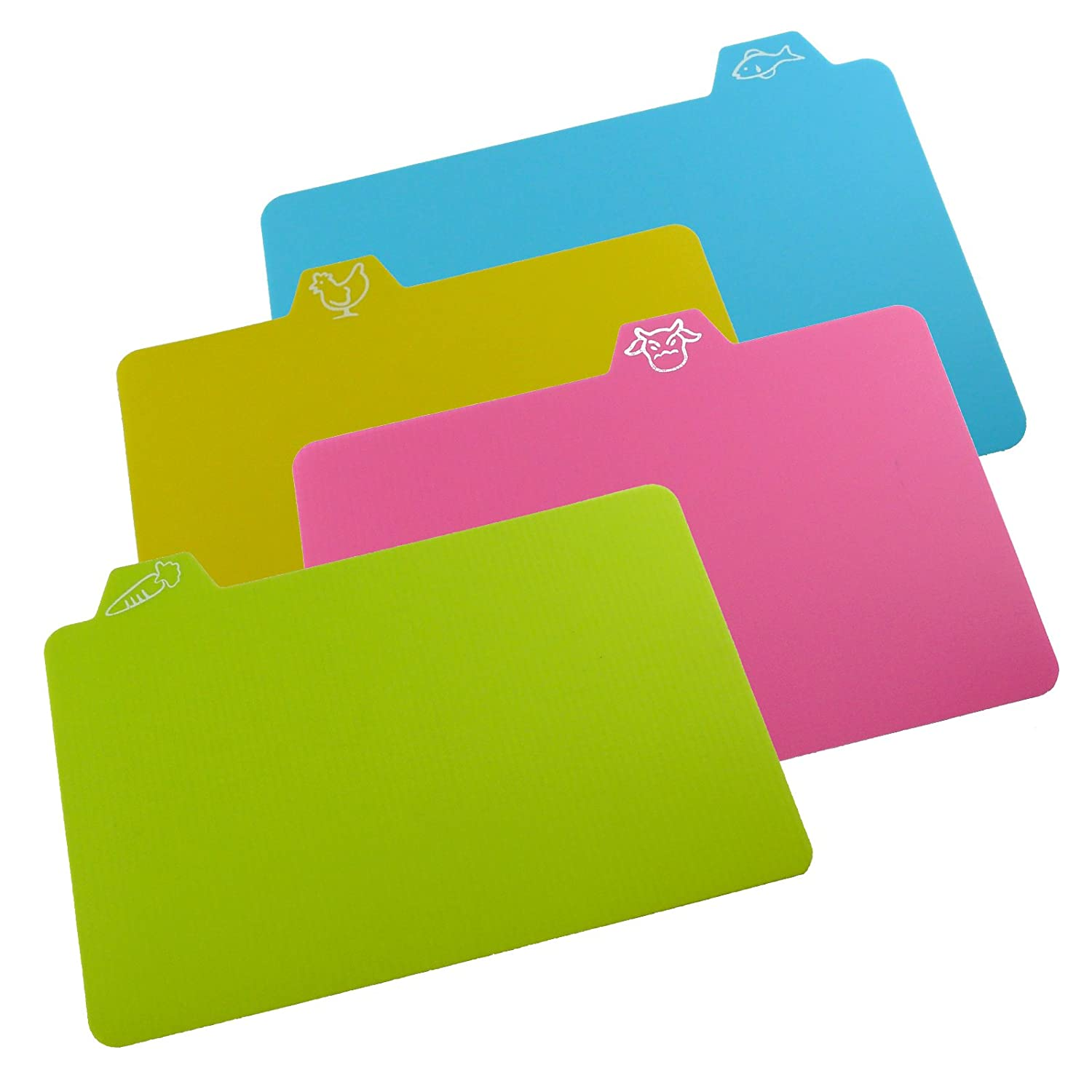 Chopping Mats - Set Of 4 Flexible Colour Coded Cutting Mats by Rose Evans