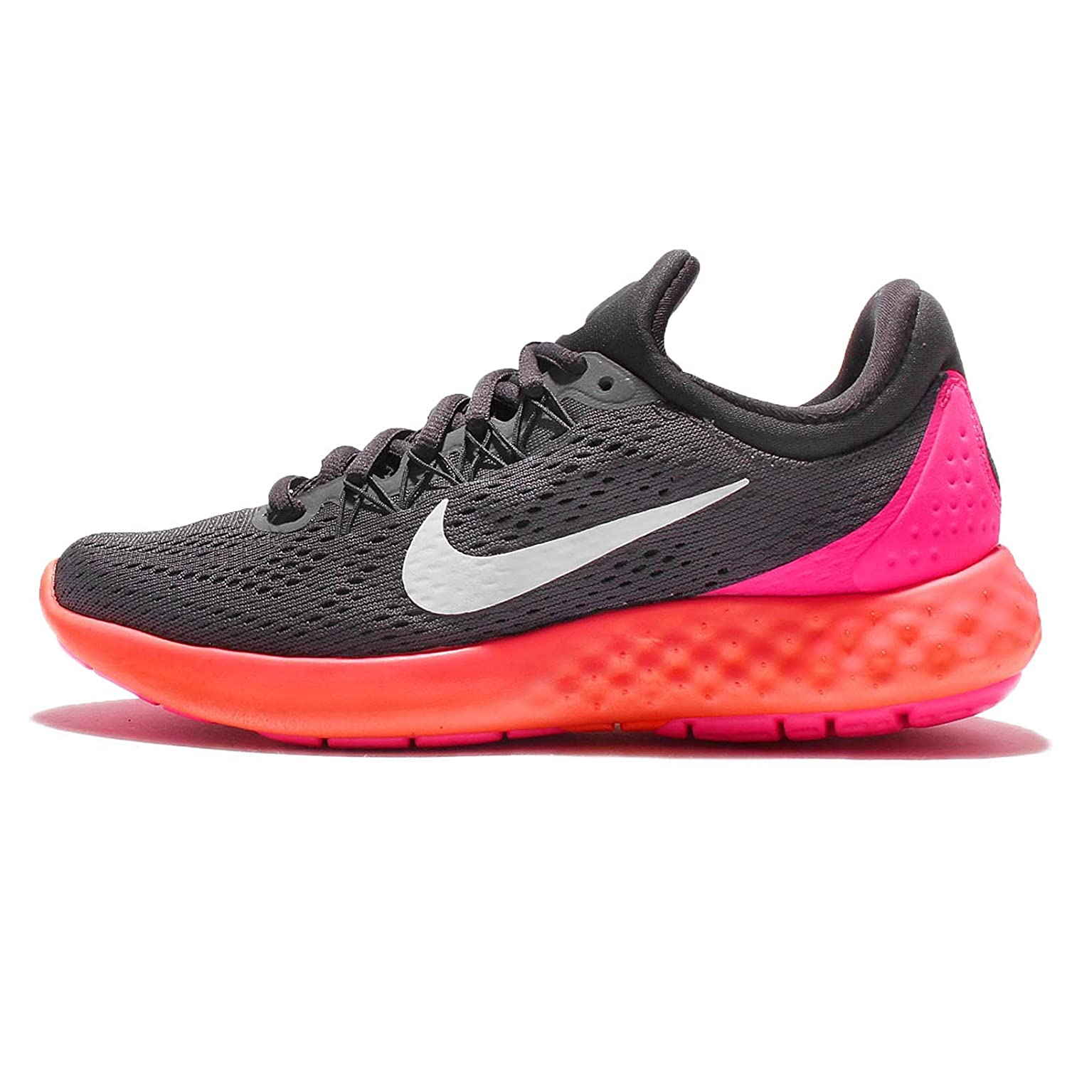 NIKE Womens Lunar Skyelux Round Toe Lace-up Running Shoes B01CJ3NQG0 5.5 B(M) US|Dark Grey/White Anthracite